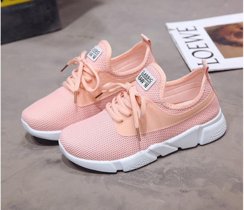 18 Summer Air Mesh Student Breathable Lace Up Outdoor Women Shoes Lightweight Woman Vulcanized Sneakers Shoes 7