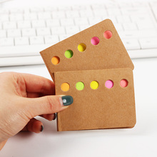 3PCS/set Novelty Kraft Paper Cover Candy Color Memo Pad N Times Sticky Notes Notepad School Office Supply Student Prize Gift
