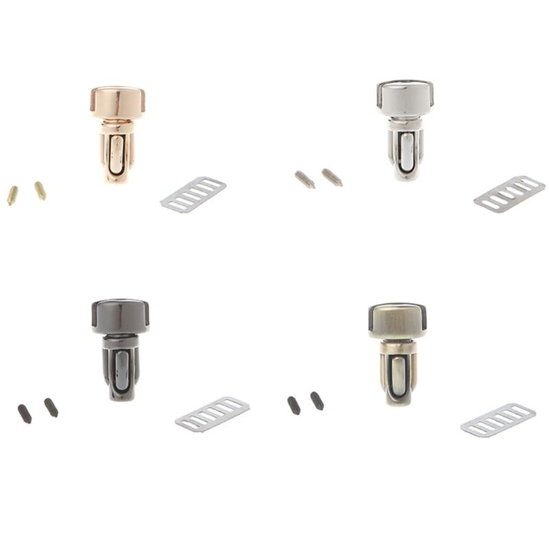 THINKTHENDO Bag With Parts & Accessories Durable Metal Clasp Turn Lock Twist Lock For DIY Handbag Bag Purse Hardware