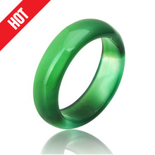2016 Hot Sale high quality Natural green Agate jade Crystal ring jewelry engagement wedding rings for women and men wholesale