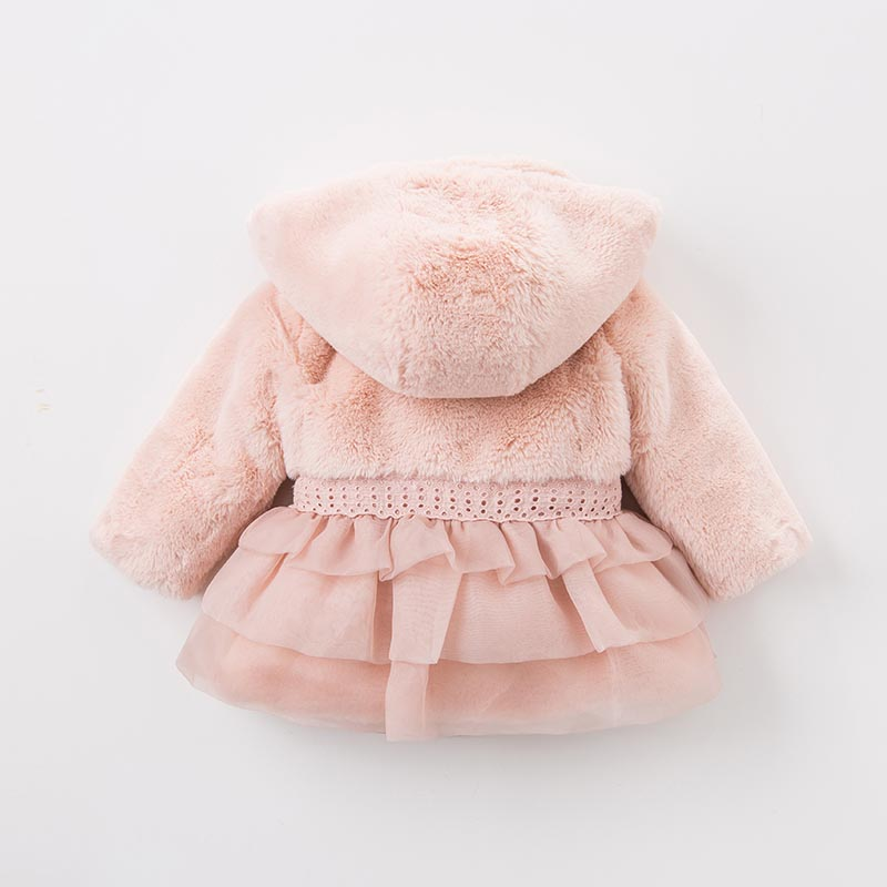 DB5495 dave bellaau winter infant baby girls fashion Jackets toddler Hooded outerwear children cute hight quality clothes