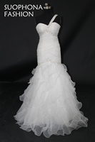 Vestido de noiva Một vai White Wedding dress 2018 Mermaid Wedding dresses Casamento Wedding gowns robe de mariee