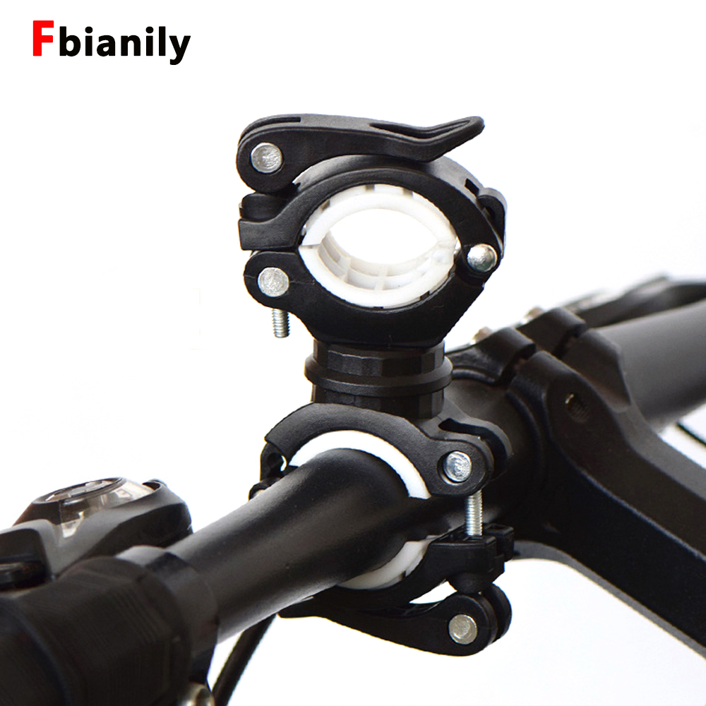 360 Degree Rotatable Bicycle Light Bracket Bike Lamp Holder LED Torch Headlight Pump Stand Quick Release Mount