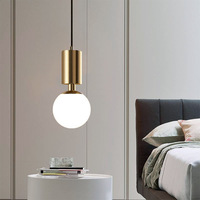 Nordic aluminum pendant light bedroom bedside lamps modern simple small pendant lamp for restaurant bar home decor mx5171148