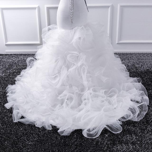 Katristsis d Mermaid sweetheart Wedding Dresses Sheer Lace Up Bride Tull Ruffles Bridal Dress Gown
