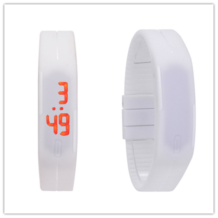10pcs Fashion Sport LED Watch Men Women Silicon Bracelets Watches Unisex  Digital Wristwatches White Black Red Pink Orange Purple 00d8b267ba
