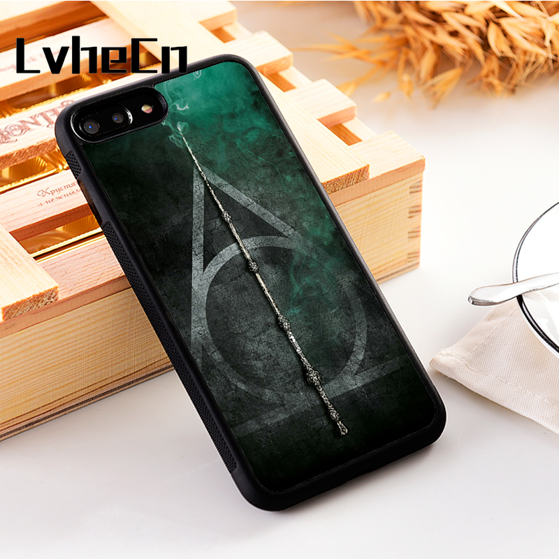 LvheCn 5 5S SE phone cover <font><b>cases</b></font> for <font><b>iphone</b></font> 6 6S 7 <font><b>8</b></font> Plus X Xs Max XR Soft Silicon TPU <font><b>HARRY</b></font> <font><b>POTTER</b></font> HALLOWS image