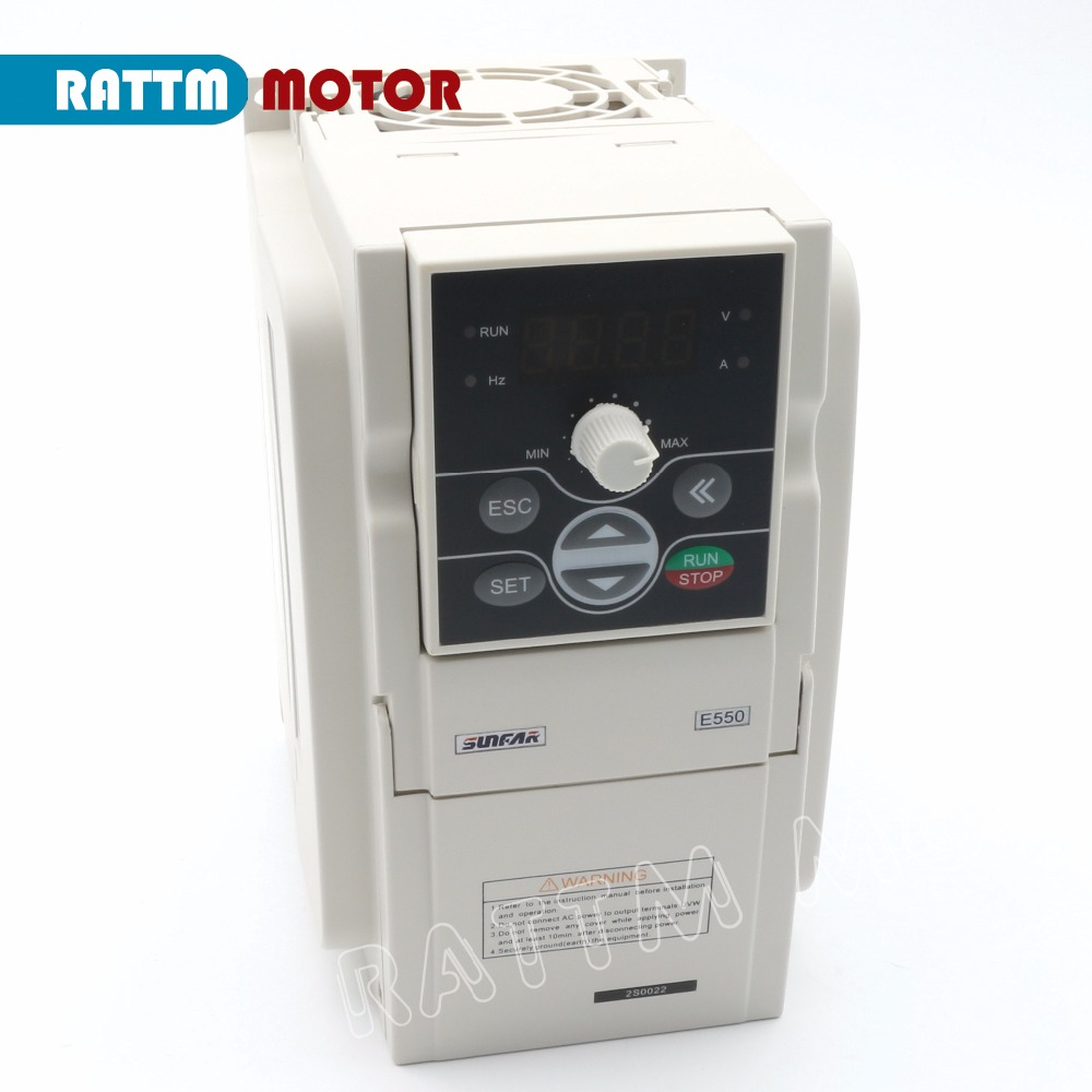 SUNFAR RS485 Interface 2.2KW Inverter VFD 220V E550-2S0022B Frequency Inverter 1000HZ Variable-frequency drive Support MODBUS