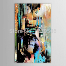 Popular Artwork Artist Handmade High Quality handmade Abstract Lover girl Oil Painting Canvas Figure