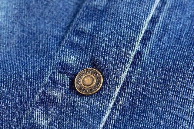 2018 Spring Kendall Jenner Streetwear Fashion Jeans Jacket Oblique Buckle Irregular Design Washed Denim Jacket Coat Female 4