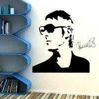 뜨거운 폴 웰러 잼 비닐 벽 예술 스티커 데칼 홈 장식 곡선 초상화 사람들이 벽 스티커 침실 벽 종이 D-20