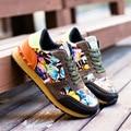 Zapatos de los hombres de La Moda de Nueva marca Unisex Camuflaje zapatos planos ocasionales Respirables al aire libre de Aire zapatos casuales Para Hombre