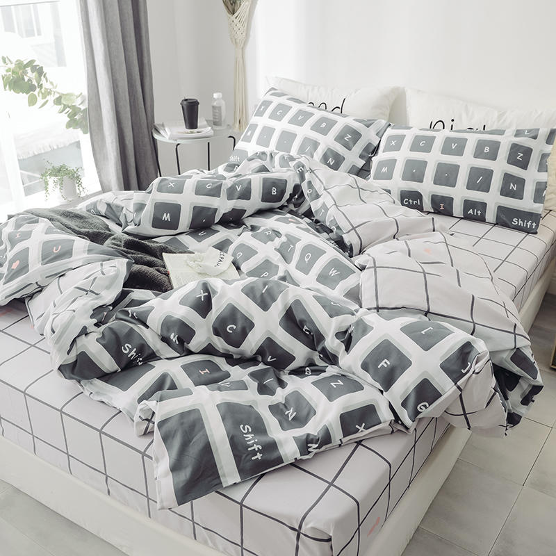 Image 3 - Floral PrintUltra Soft 100%Cotton Twin Queen Bedding Set King  size Bed Fitted sheet Kids Girls Bed set Duvet cover PillowcasesBedding  Sets