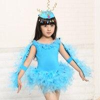 בלט בנות תלבושות אפרוחים Bbirds להראות ביצועי בעלי החיים ילדים ללבוש בגדי ריקוד