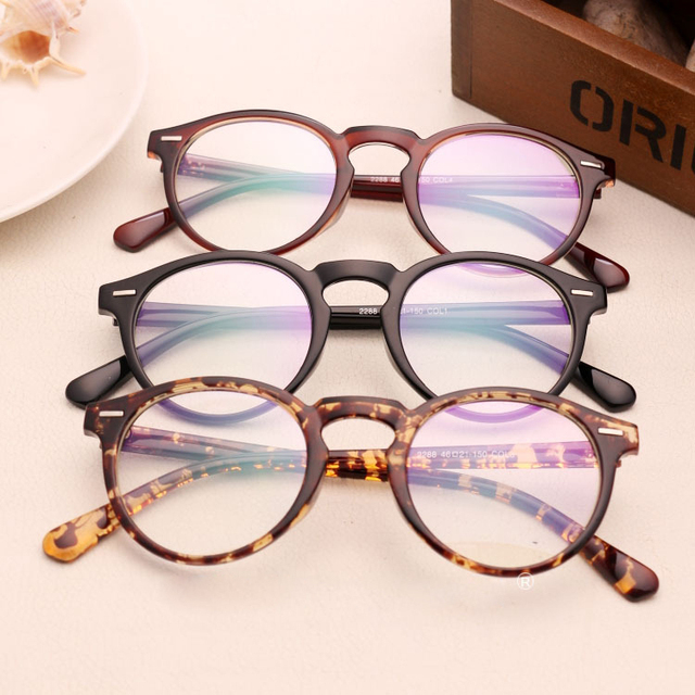 Vintage New Women sun glasses clear lens optical Fashion plain UV400 frames  Rivets reading Glasses Oculos d1bd73c493