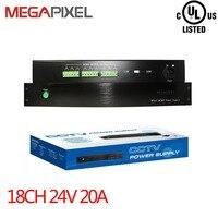 Адаптер питания крепление Питание 18Ch AC24V выход Мощность коробка 20A для видеонаблюдения Видео Безопасности IP камеры