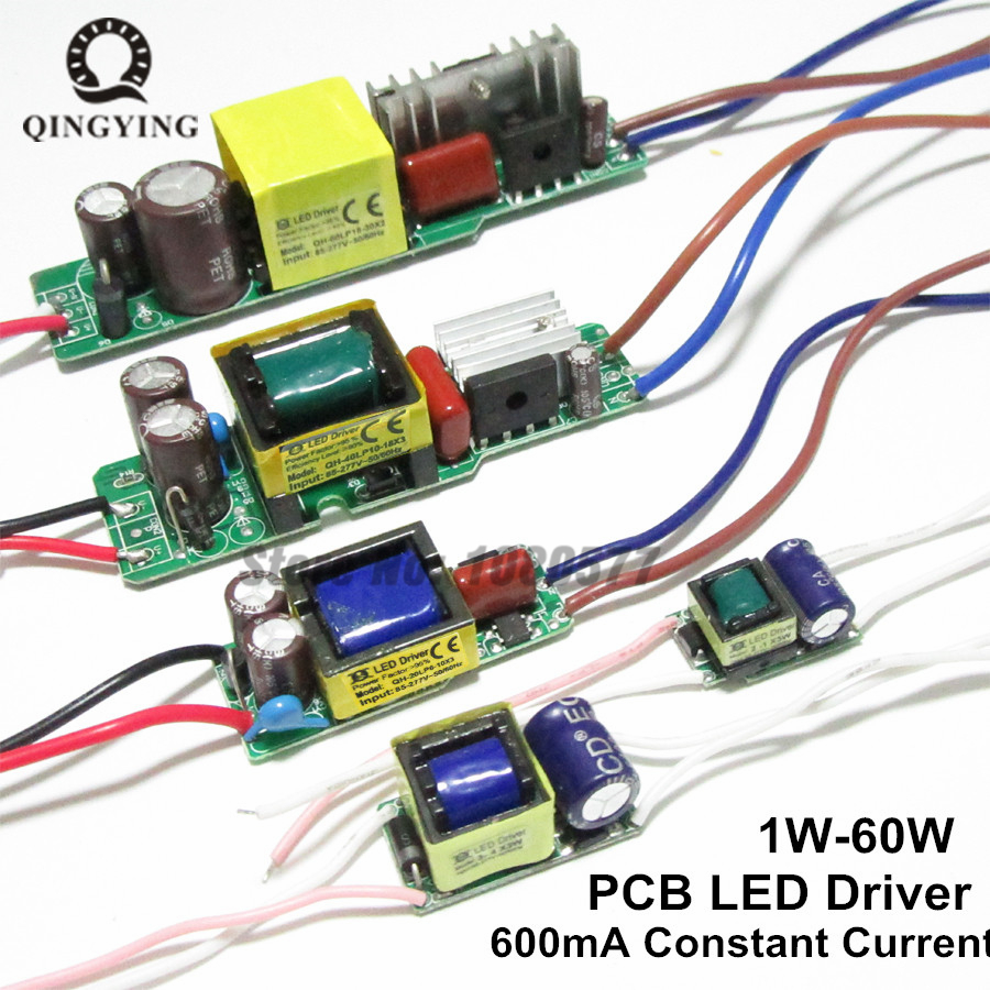 AC85-277V LED Driver 1-2x3w 2-4x3w 6-10x3w 10-18x3w 18-30x3w 600mA 650mA Constant Current Lighting Transformers Power Supply 11 18w led constant current source power supply driver yellow green ac 85 277v