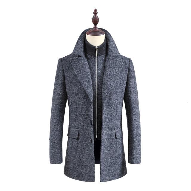Nuevo Hombre Largo trench coat abrigo de lana chaquetón de Los Hombres para hombre Abrigo de lana de Invierno ropa de abrigo abrigos de los hombres masculinos