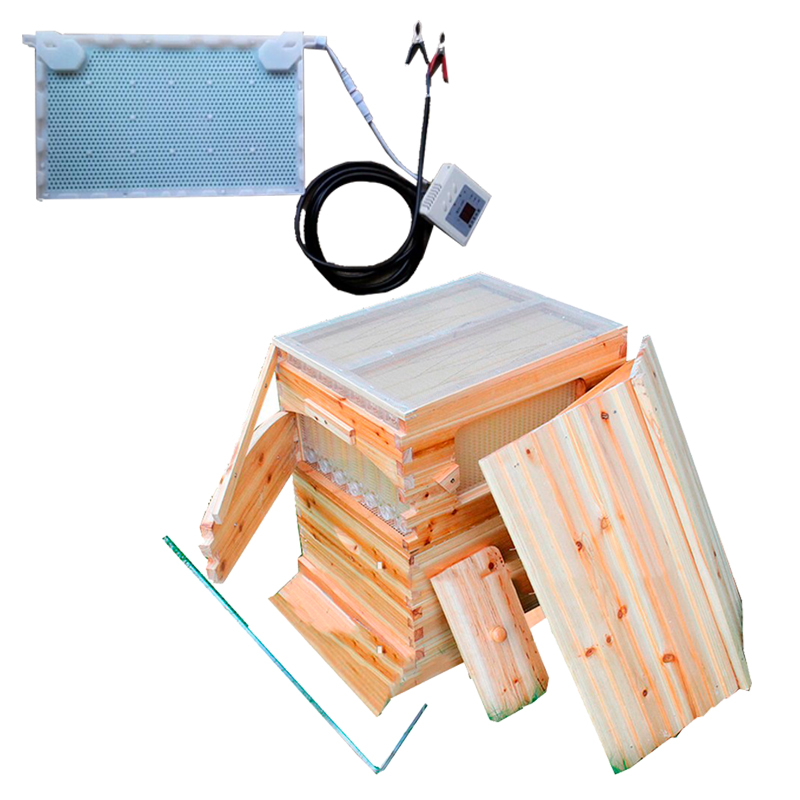 Free ship smart automatic honey flow hive for honey bee hive honeycomb 7 frames intelligent physical acaricidal instrument Kits new design honey self flowing wood bee hive with frames