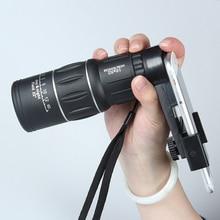16×52 HD Zoom Optical Monocular Telescope Phone Lens Hiking Concert Phone Camera Lens Universal For Samsung iPhone Smartphones