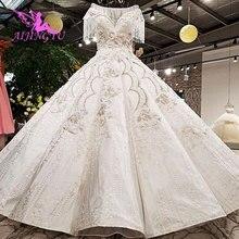 فستان زفاف رشيق AIJINGYU أثواب أثرية أثرية مرتفعة الثمن من هولندا فستان حفلات بتصميم كلاسيكي فساتين زفاف