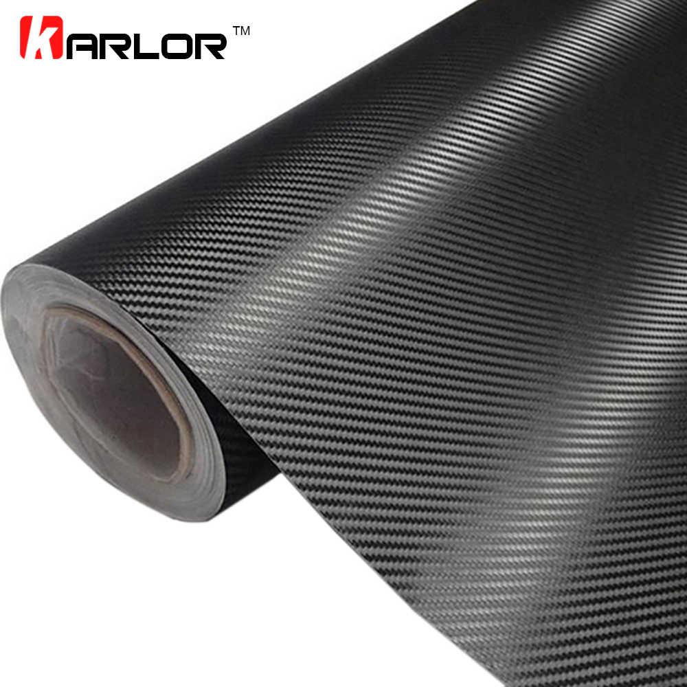 30 センチメートル x 127 センチメートル 3D 炭素繊維ビニール車ラップシートロールフィルム車のステッカーとオートバイ車スタイリングアクセサリー自動車