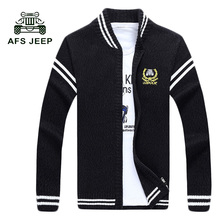 2017 autumn and winter new men 's sweaters Leisure v-neck multi-color knit cardigan Men's jackets 80yw