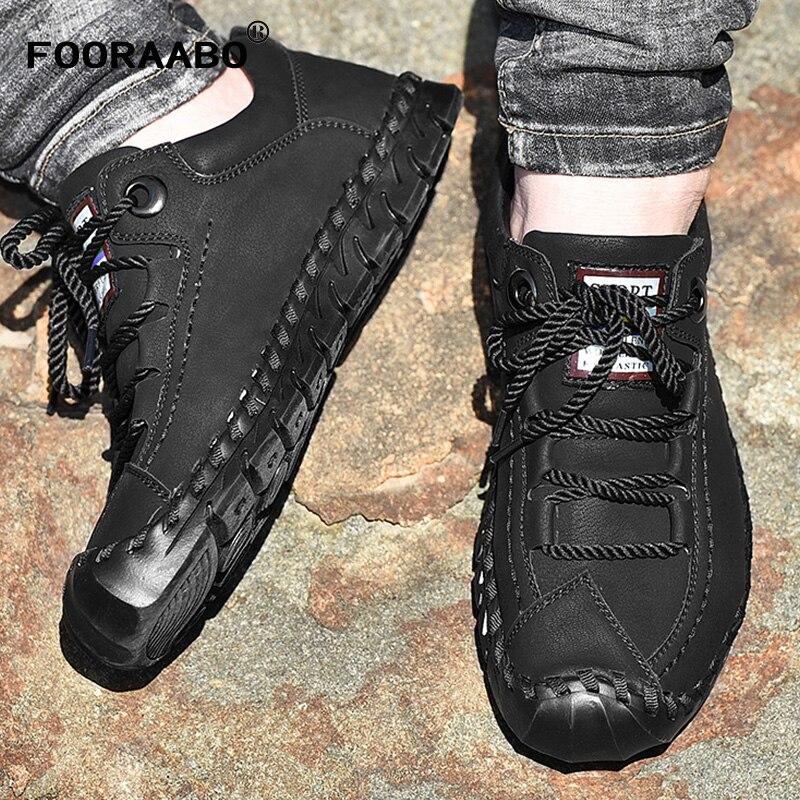Scarpe Da uomo In Pelle 2018 di Modo di Autunno di Marca Traspirante Lace Up Causale degli uomini di Sneakers Inghilterra Stile Retrò scarpe Da Ginnastica scarpe Appartamenti