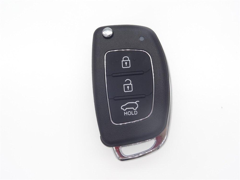 AUTEWODE Replacement auto parts Shell 3 Buttons Flip Folding Remote Key Case for HYUNDAI ix45 Santa Fe Keyless Entry Fob