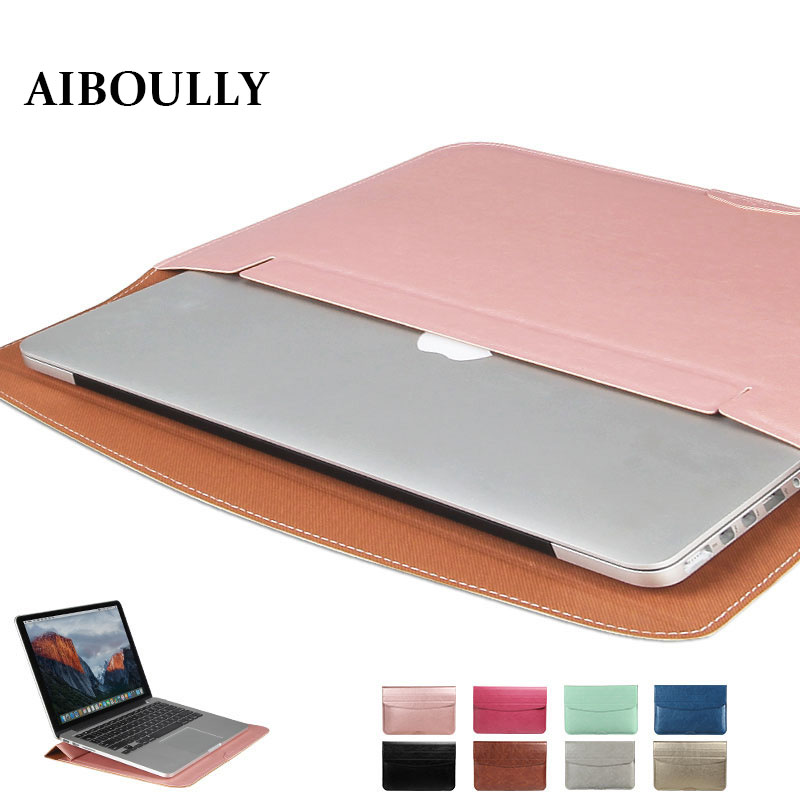 Ultra Thin Waterproof PU Leather Laptop Sleeve Cover Case For Apple Macbook Air 11 Retina 12 13 15 Liner Bag Pro 13 A1706 A1708 цена 2017