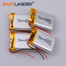 цена на 3.7V 1000mAh 803040 Lithium Polymer Li-Po ion Rechargeable Battery For Mp3 MP4 MP5 GPS PSP mobile Pocket PC e-books bluetooth