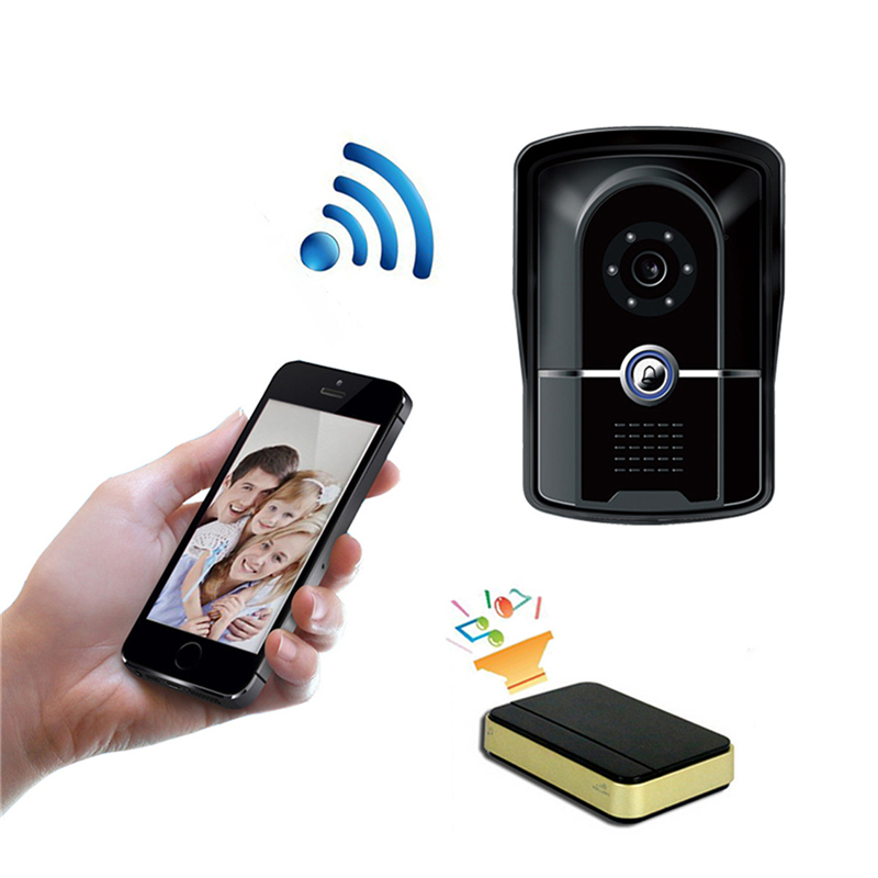 Wifi Doorbell 720P Door Intercom CameraWireless Video Door Phone Doorbell Intercom System Night Vision IR Motion Detection Alarm kinco wifi remote control night vision video doorbell hd waterproof dtmf motion detection alarm smart home for smartphone