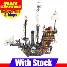 LEPIN 16002 Modular Vaca Marina del Barco Pirata Barba de Metal Kits Set Juguetes de los Ladrillos Del bloque hueco Compatible 70810