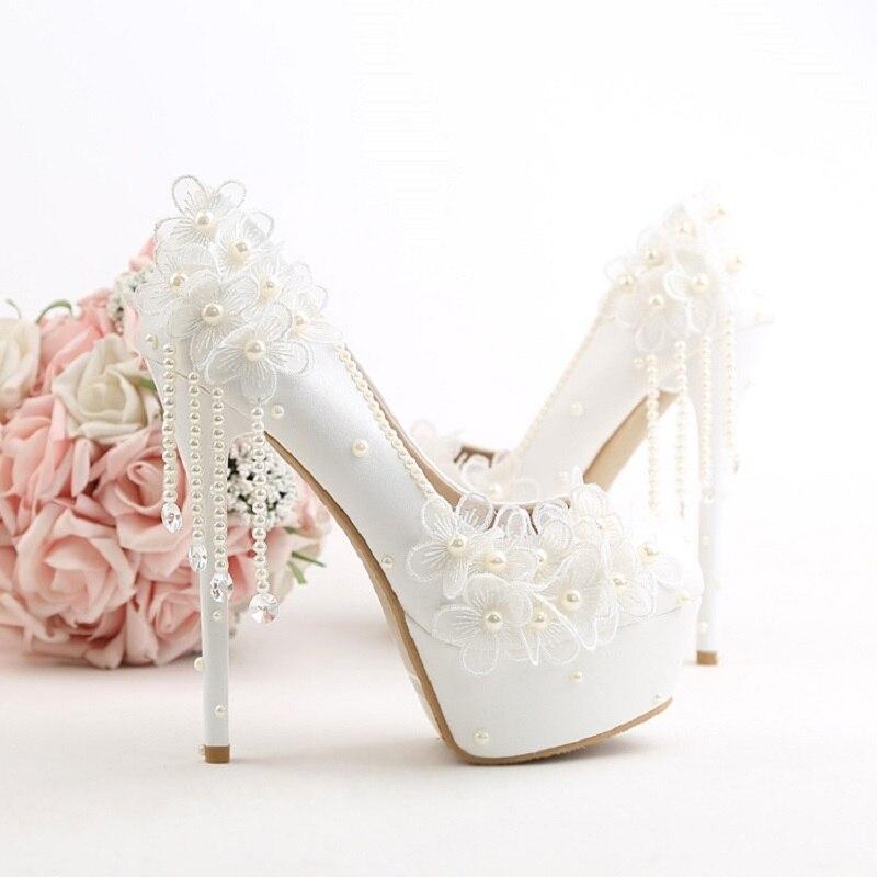 Femmes High Esthétique Pendentif Mariée High Fleurs Mode 12 Cm Super Haute High Gland 10 De Blanc Mariage Chaussures 14 Talon Stiletto rg7BwUqr