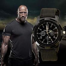 New Brand 2018 Men Casual Quartz Watch Soldier Canvas Strap Military Watches Sports Men Reloj Hombre  Wristwatch