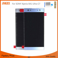 For SONY Xperia XA1 Ultra C7 LCD Display Digitizer Sensor Glass Panel Assembly Replacement Parts White Blue Case