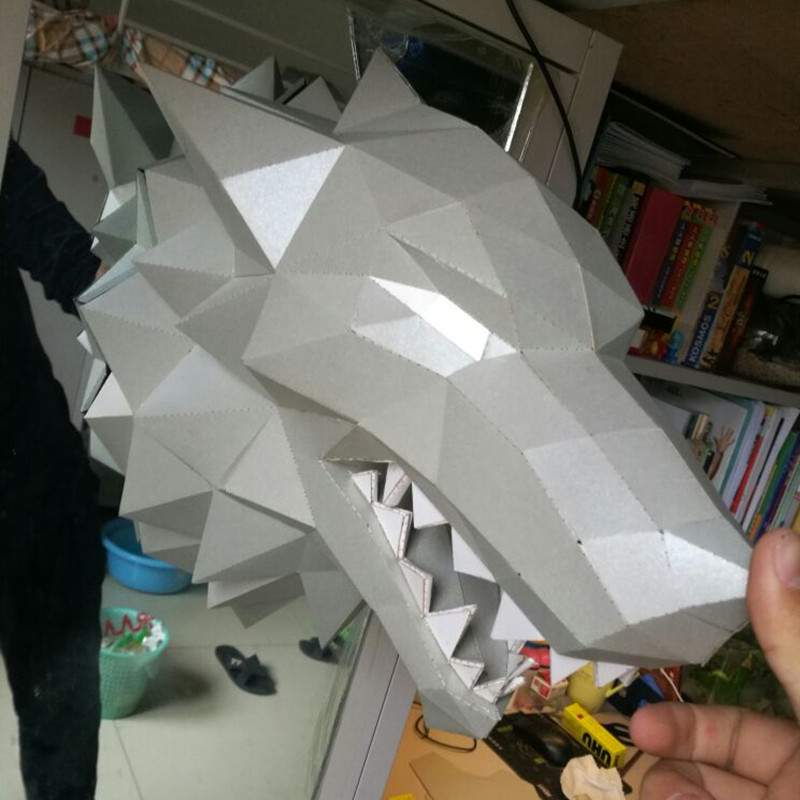 37 Cm Game Of Thrones Haus Stark Winterfell Direwolf Kopf Papier