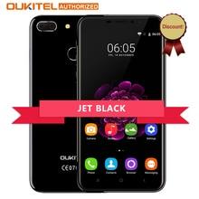 Oukitel Jet Noir U20 Plus Android 7.0 4G Mobile téléphone 5.5 pouces IPS FHD MTK6737T Quad Core 13MP Double Lentille 2 GB + 16 GB Smartphone