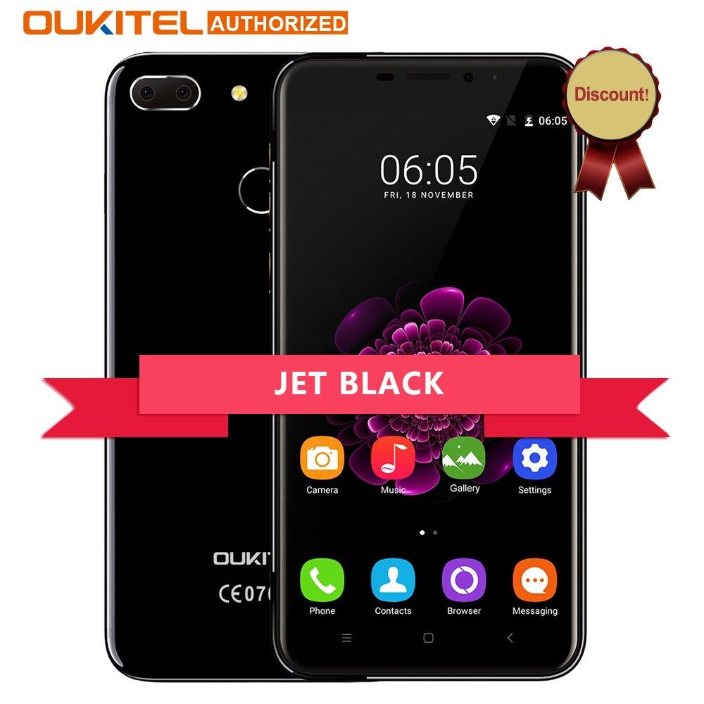 Цена за Oukitel jet black u20 плюс android 6.0 4 г мобильный телефон 5.5 дюймов IPS FHD MTK6737T Quad Core 13MP Dual Lens 2 ГБ + 16 ГБ смартфон