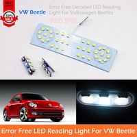 Free Shipping 3 Pcs Car LED Interior Reading Dome Map Light Error Free Glove Box Trunk