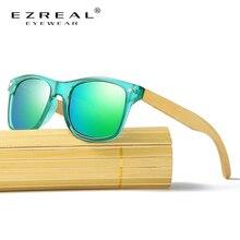 EZREAL Polarized Wood Sunglasses Men Bamboo Leg Sunglass Women Brand Design Sport Goggles Gold Mirror Sun Glasses