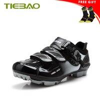 Tiebao mountain bike sapatos men respirável mtb ciclismo sapatos pu superior anti deslizamento dos homens sapilha de corrida de bicicleta tênis Sapatos de ciclismo     -