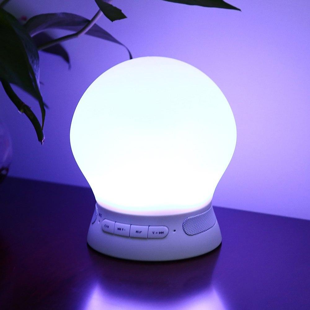 Led smart night lamp - Remote Control Led Night Light Smart Lamp Dc5v 5w 2000mah Speaker Wireless Bluetooth 4 0 Led Table
