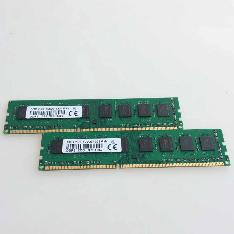 NEW 2X8GB DDR3 PC3-10600 1333mhz Desktop Memory For AMD Intel Desktop Ram Memory 8G 1333MHZ 240-pin CL9. new 4gb 2x2gb ddr3 pc3 10600 1333mhz desktop memory ram dimm 240 pin 1333mhz non ecc low density free shipping