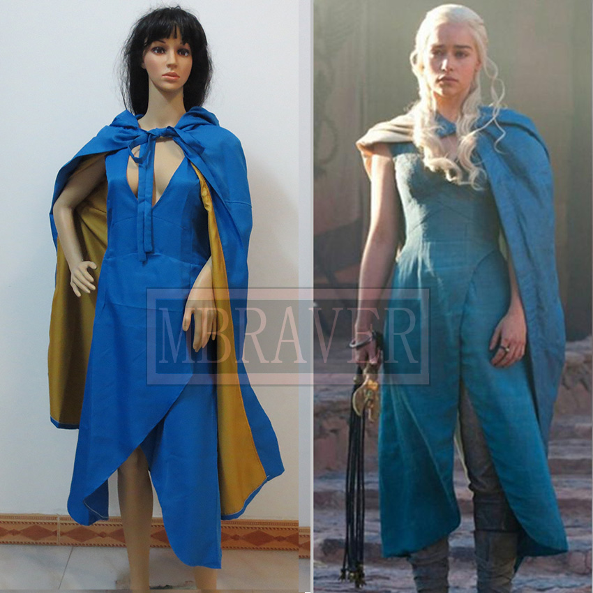 Film Game of Thrones Daenerys Targaryen cosplay costume A Song of Ice and Fire Movie Cosplay Costume