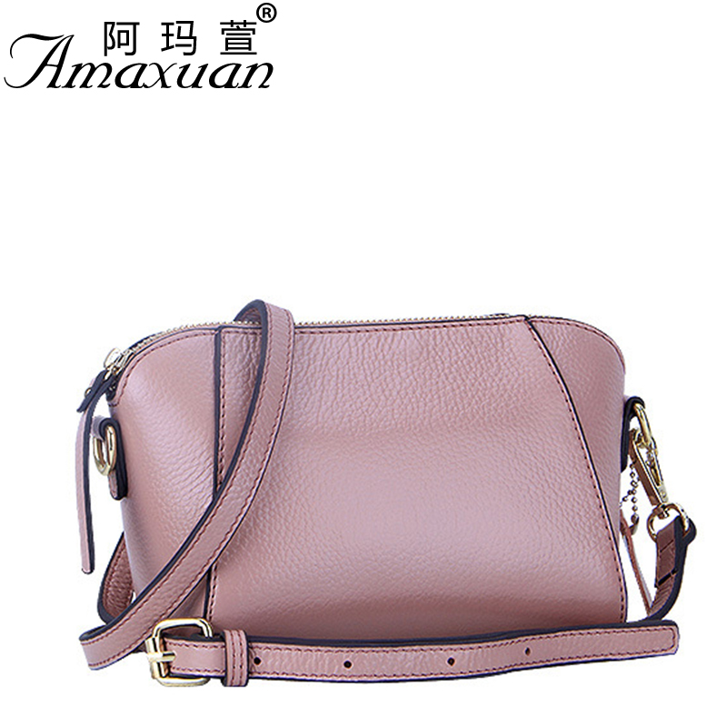 ФОТО 2016 new trend litchi milled women leather shoulder crossbody bags European and America style femme handbag hot sale BH1368
