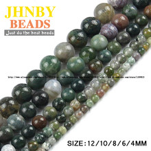 JHNBY India carnelian beads 4/6/8/10/12MM Natural Stone spacer Round Loose beads for Jewelry bracelets making DIY accessories()