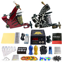 Solong tatoo machine gun Kits Tattoo Machine Set Power Supply Foot Pedal Needles Grips Body Arts Tattoo Supplies TK202 38