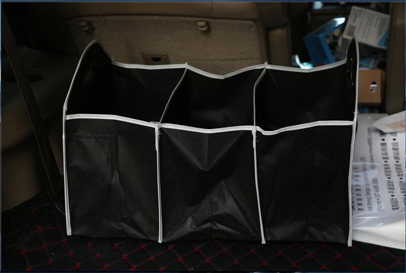 Auto Accessories <font><b>Car</b></font> Organizer Trunk Collapsible <font><b>Toys</b></font> Food Storage Bag For <font><b>Audi</b></font> A4 B5 B6 B8 A6 C5 C6 <font><b>A3</b></font> A5 Q3 Q5 Q7 BMW E46 E39 image