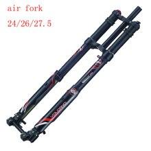 DNM USD-8S DH Горные Горный велосипед воздуха амортизационная вилка 24/26/27,5 путешествия 203 мм mtb rockshox горные перевернутая вилка
